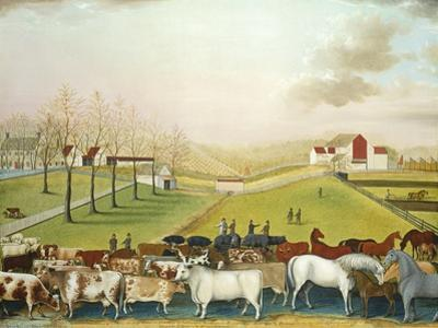 The Cornell Farm, 1848 by Edward Hicks