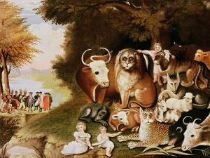 The Peaceable Kingdom, 1832-34 (See also 84503) by Edward Hicks