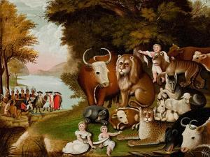 The Peaceable Kingdom, c.1833 by Edward Hicks
