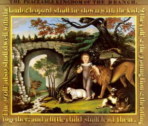 The Peaceable Kingdom of the Branch by Edward Hicks