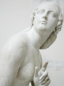 Naked Figure of Eve Listening to the Voice in White Marble, c.1842 by Edward Hodges Baily