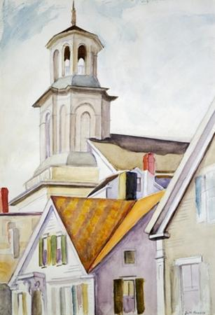 Church Steeple and Rooftops