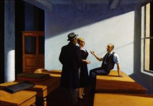 Conference at Night by Edward Hopper