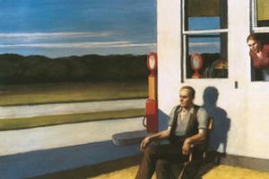 Four Lane road, 1956 by Edward Hopper