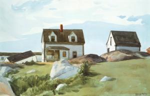 Houses Of Squam Light by Edward Hopper