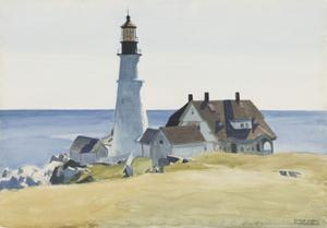 Lighthouse and Buildings, Portland Head, 1927 by Edward Hopper