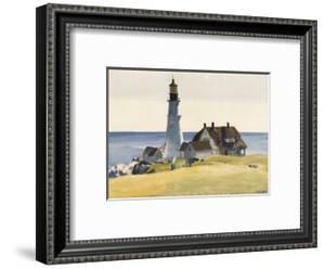 Lighthouse and Buildings, Portland Head, Cape Elizabeth, Maine, c.1927 by Edward Hopper