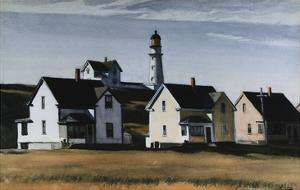 Lighthouse Hill, Cape Elizabeth, Maine by Edward Hopper