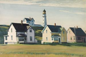 Lighthouse Village (also known as Cape Elizabeth), 1929 by Edward Hopper