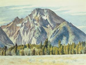 Mount Moran, 1946 by Edward Hopper