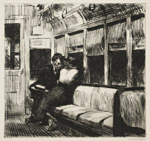 Night on the El Train, 1918 by Edward Hopper