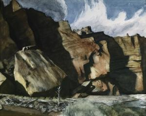 Shoshone Cliffs by Edward Hopper