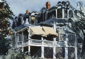 The Mansard Roof by Edward Hopper
