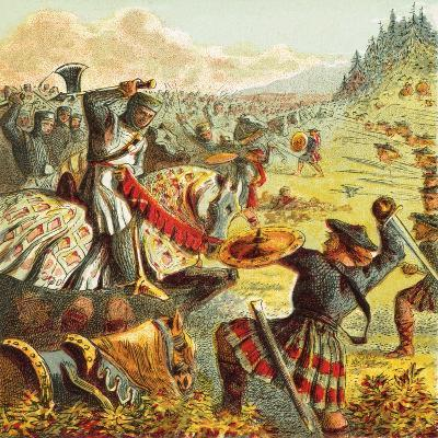 Edward I Attacks Scotland-English-Giclee Print