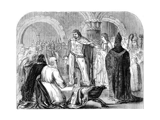 Edward I Presenting His Infant Son to the Welsh, 1284--Giclee Print