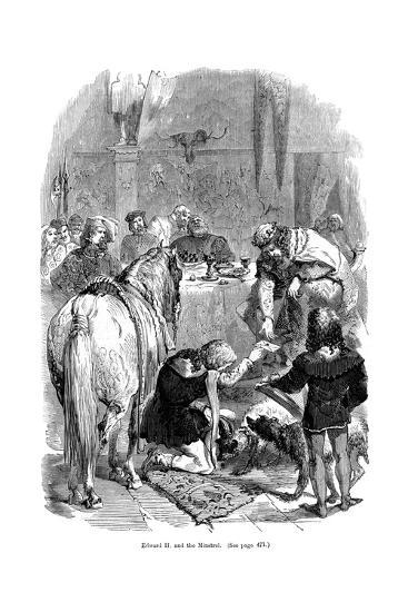 Edward II and the Minstrel--Giclee Print