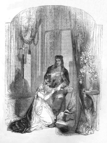 'Edward III. and the Countess of Salisbury', 1845-Unknown-Giclee Print