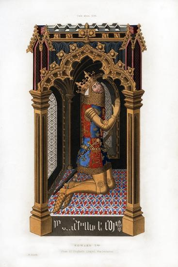 Edward III, C1355-Henry Shaw-Giclee Print