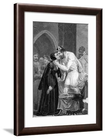 Edward IV Receiving the Widows' Contribution, 15th Century- Mackenzie-Framed Giclee Print