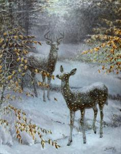 Early Snow by Edward J^ Bierly