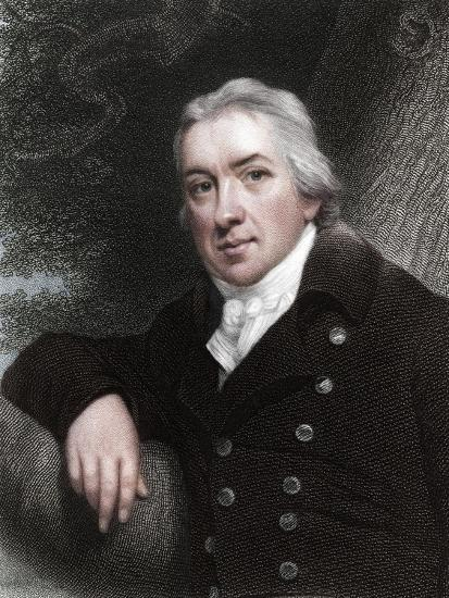 Edward Jenner, English physician, 1837-Unknown-Giclee Print