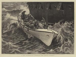 A Man Overboard, Lowering the Ship's Lifeboat by Edward John Gregory