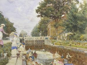 Boulters Lock on the Thames by Edward John Gregory