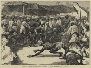 Indian Sketches, Human Tigers at the Mohurrum Festival by Edward John Gregory