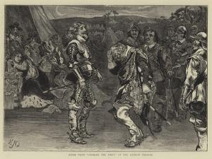 Scene from Charles the First at the Lyceum Theatre by Edward John Gregory