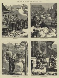 Sketches at a Northampton Wool Fair by Edward John Gregory