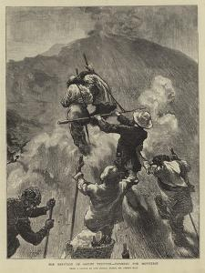 The Eruption of Mount Vesuvius, Climbing the Mountain by Edward John Gregory