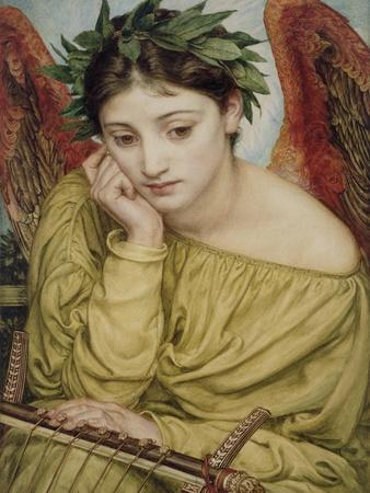 Erato, Muse of Poetry, 1870 (W/C on Paper)