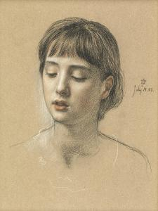 Head of a Girl, 1883 by Edward John Poynter