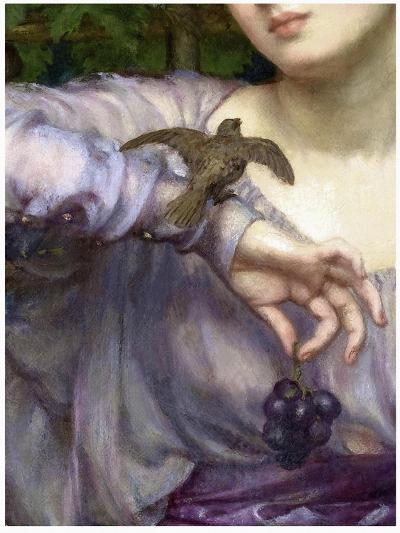 Edward John Poynter, Lesbia and her sparrow Detail 1907-Vintage Lavoie-Giclee Print