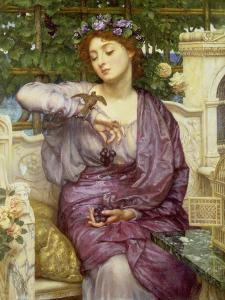 Lesbia with Her Sparrow, 1907 by Edward John Poynter