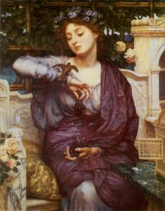 Libra and Her Sparrow, 1907 by Edward John Poynter