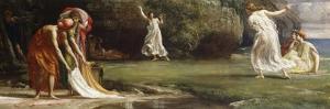 Nausicaa and her Maidens playing at Ball by Edward John Poynter