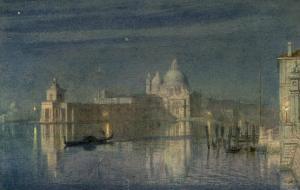 Santa Maria Della Salute, Venice, Moonlight, 1863 by Edward John Poynter
