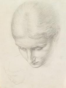 Study of a Woman. C.1868-71 (Pencil on Paper) by Edward John Poynter