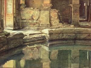 The Roman Circular Bath at Bath by Edward John Poynter