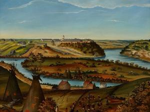 View of Fort Snelling, C.1850 by Edward K. Thomas