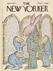 The New Yorker Cover - April 11, 1977 by Edward Koren
