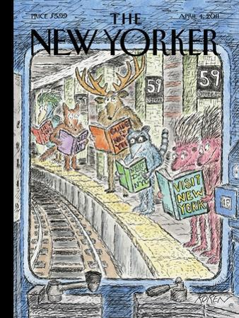 The New Yorker Cover - April 4, 2011 by Edward Koren