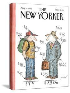 The New Yorker Cover - August 10, 1992 by Edward Koren