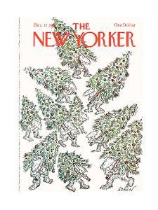 The New Yorker Cover - December 12, 1977 by Edward Koren