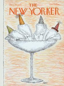 The New Yorker Cover - December 31, 1979 by Edward Koren
