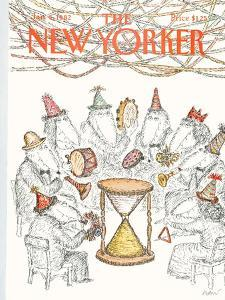 The New Yorker Cover - January 4, 1982 by Edward Koren