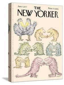 The New Yorker Cover - June 13, 1977 by Edward Koren
