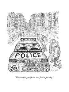 """They're trying to give a new face to policing."" - New Yorker Cartoon by Edward Koren"