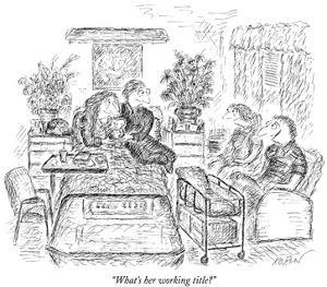"""What's her working title?"" - New Yorker Cartoon by Edward Koren"